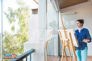 Cerramiento de una terraza con vidrio